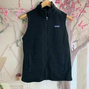 Patagonia Charcoal Gray Fleece Vest